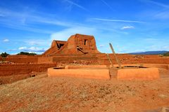 Pecos Church and Kiva Royalty Free Stock Photos