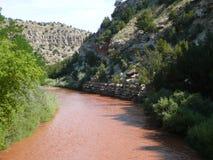 Pecos-flod Arkivfoton