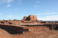 Pecos national historical park 3. The ruin of mission church and part of mission complex foundations at Pecos National Monument located in New Mexico Stock Image