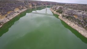 Pecos River Texas aerial video stock footage