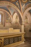 Pecs Cathedral Crypt. Ornate decoration in the crypt of Pecs cathedral in Hungary Stock Photos