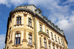 Pecs, Hungary. City in Baranya county. Old apartment building Royalty Free Stock Photography