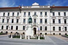 Pecs, Hungary. City in Baranya county. Pecs municipal building o Royalty Free Stock Photography