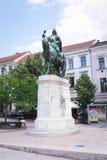 PECS, HUNGARY July.15.2017  statue of Janos Hunyadi. Statue of Janos Hunyadi on Szechenyi Square in Pecs, Hungary Stock Photo