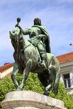 Pecs, Hungary. A statue of Janos Hunyadi on Szechenyi Square in Pecs, Hungary Royalty Free Stock Photos