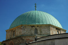 Pecs Main Square. Mosque and blue sky Stock Photography