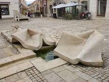 Pecs , South Hungary - 22 September 2016. Autumn photos of the city. Pecs , South Hungary - September 2016. Autumn photos of the city. Fountain stock photography