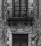 Peculiar characters painted on the main facade part 4 stock images