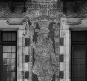 Peculiar characters painted on the main facade part 2 stock photos