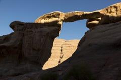 Peculiar Rock Formations Beautiful Burdah Rock Bridge in Wadi Rum Royalty Free Stock Photography