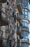 Peculiar shapes on the main facade stock photo