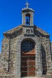 The peculiar surroundings and hermitage of Sant Juan de Gaztelugatxe.  stock photo