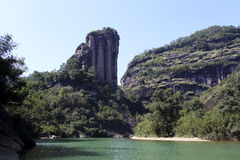 Peculiar to the top of the hill: a sign of wuyi mountain, Stock Images