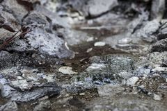 Peculiar volcanic mineral water fount in Balvanyos, Transylvania. Romania Stock Photography