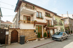 The peculiarity of Bulgarian traditional architecture in Pomorie Stock Images