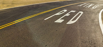 Ped Xing written on the road. In California Royalty Free Stock Photography