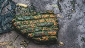 Pedaço da parede de tijolo Fotografia de Stock