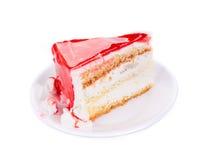 Pedaço de bolo Fotografia de Stock Royalty Free