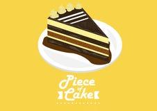 Pedaço de bolo imagem de stock