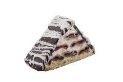 Pedaço de bolo com crosta de gelo Imagens de Stock Royalty Free