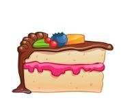 Pedaço de bolo do vetor Foto de Stock
