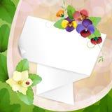 Pedaço de papel Fotos de Stock