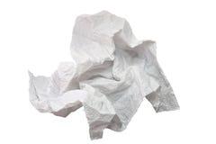 Pedaço de papel amarrotado Fotografia de Stock Royalty Free