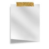 Pedaço de papel branco Imagens de Stock