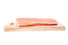 Pedaço salmon grande foto de stock