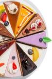 Pedaços de bolo bonitos Fotografia de Stock