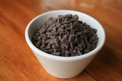 Pedaços de chocolate Imagens de Stock Royalty Free