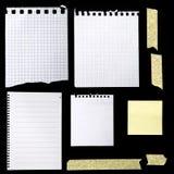 Pedaços de papel Fotografia de Stock Royalty Free
