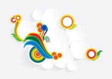 Pedaços de papel coloridos Fotos de Stock Royalty Free