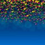 pedaços de papel festivos da cor Fotografia de Stock Royalty Free