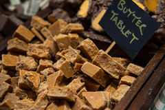 Pedaços deliciosos da tabuleta caseiro da manteiga Fotografia de Stock Royalty Free