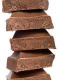 Pedaços do chocolate Imagem de Stock Royalty Free