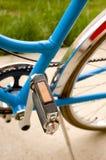 Pedaal en middendeel van een fiets Stock Foto
