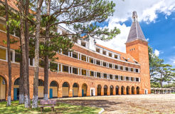 Pedagogical colleges Dalat with beautiful old architecture royalty free stock photo