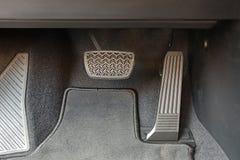Pedais de um carro fotografia de stock