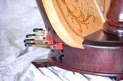 Pedais de uma harpa do pedal Fotos de Stock Royalty Free