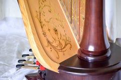 Pedais de uma harpa do pedal Foto de Stock