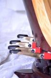 Pedais de uma harpa do pedal Imagens de Stock Royalty Free