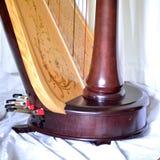 Pedais de uma harpa do pedal Fotografia de Stock