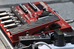 Pedal. An amplifier pedal system for electric guitar playing Royalty Free Stock Image