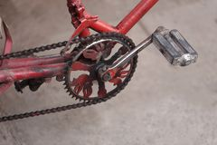 Pedal of bicycle Stock Photo