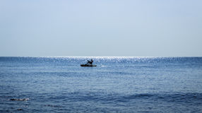 Pedal boat alone at the sea Royalty Free Stock Images