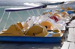 Pedal boat in lake . Stock Photo