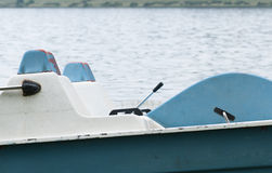 Pedal boat on lake Royalty Free Stock Photos