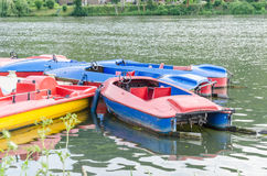 Pedal boat rental in Essen Kettwig Stock Image