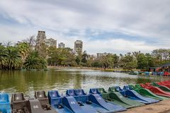 Pedal Boats And Lake At Bosques De Palermo - Buenos Aires, Argentina Royalty Free Stock Image